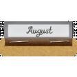 Clear Calendar Tabs Kit - clear tab august