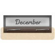Clear Calendar Tabs Kit - clear tab december