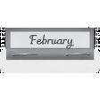 Clear Calendar Tabs Kit - clear tab february