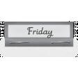 Clear Calendar Tabs Kit - clear tab friday