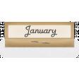 Clear Calendar Tabs Kit - clear tab january
