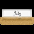 Clear Calendar Tabs Kit - clear tab july