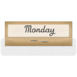 Clear Calendar Tabs Kit - clear tab monday
