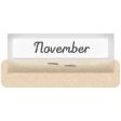 Clear Calendar Tabs Kit - clear tab november