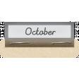 Clear Calendar Tabs Kit - clear tab october