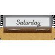 Clear Calendar Tabs Kit - clear tab saturday