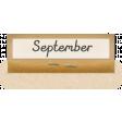 Clear Calendar Tabs Kit - clear tab september