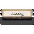 Clear Calendar Tabs Kit - clear tab sunday