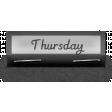 Clear Calendar Tabs Kit - clear tab thursday