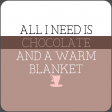 The Good Life - January 2020 Lables & Words - Chocolate & Blanket