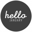 The Good Life - January 2020 Lables & Words - Label Hello January