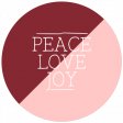 The Good Life - January 2020 Lables & Words - Label Peace Love Joy