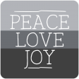 The Good Life - January 2020 Lables & Words - Peace Love Joy