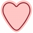 The Good Life - January 2020 Tags & Stickers - Heart 1