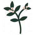 The Good Life - January 2020 Tags & Stickers - Sticker Floral 1