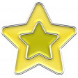 The Good Life: February 2020 Elements Kit - enamel star yellow