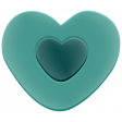 The Good Life: February 2020 Elements Kit - rubber heart teal