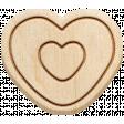 The Good Life: February 2020 Elements Kit - Wood heart