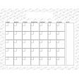 The Good Life: March 2020 Calendars Kit - 1 Calendar 8.5 x 11 blank