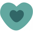 The Good Life - February 2020 Tags & Stickers - Sticker Heart Teal