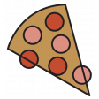 The Good Life - February 2020 Tags & Stickers - Sticker Pizza