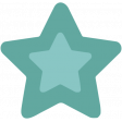 The Good Life - February 2020 Tags & Stickers - Sticker Star Teal 2