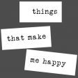 The Good Life - March 2020 Labels & Words - Word Strip Things That Make Me Happy