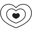 The Good Life: April 2020 Stamps Kit - heart template