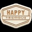 The Good Life: April 2020 Travel Elements Kit - wood happy travels
