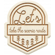 The Good Life: April 2020 Travel Elements Kit - wood take the scenic route