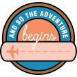 The Good Life: April 2020 Travel Labels & Words Kit - and so the adventure begins