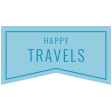 The Good Life: April 2020 Travel Labels & Words Kit - label happy travels