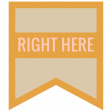 The Good Life: April 2020 Travel Labels & Words Kit - label right here
