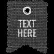 Burlap Word Tags Kit - Template 1