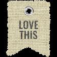 Burlap Word Tags Kit - love this