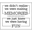 The Good Life: May 2020 Stamps Kit - making memories having fun template