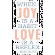 The Good Life - May 2020 Elements - Sticker Joy Love