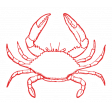 The Good Life - July 2020 Tags & Stickers - Print Sticker Crab