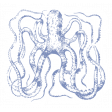 The Good Life - July 2020 Tags & Stickers - Print Sticker Octopus