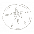 The Good Life - July 2020 Tags & Stickers - Print Sticker Sand Dollar