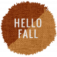 The Good Life: September 2020 Elements Kit word hello fall