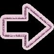 The Good Life - October 2020 Elements -  glitter arrow pink