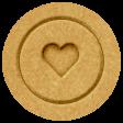 The Good Life - October 2020 Elements -  letterpress heart