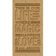 The Good Life - October 2020 Elements -  letterpress life magic love