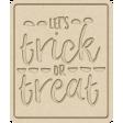 The Good Life - October 2020 Mini Kit -  letterpress trick or treat