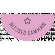 The Good Life - October 2020 Samhain Mini Kit - label blessed samhain