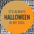 The Good Life - October 2020 Samhain Mini Kit - label halloween in my soul