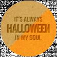 The Good Life - October 2020 Samhain Mini Kit - letterpress halloween in my soul