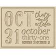 The Good Life - October 2020 Samhain Mini Kit - letterpress oct 31