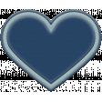 The Good Life: November 2020 Elements Kit - Rubber heart navy